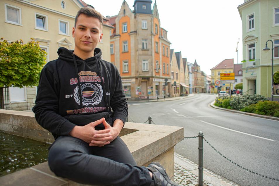 Selbstbewusst und immer mit den richtigen Argumenten: Jakob Holling aus Ohorn ist Sachsens bester Debattierer.