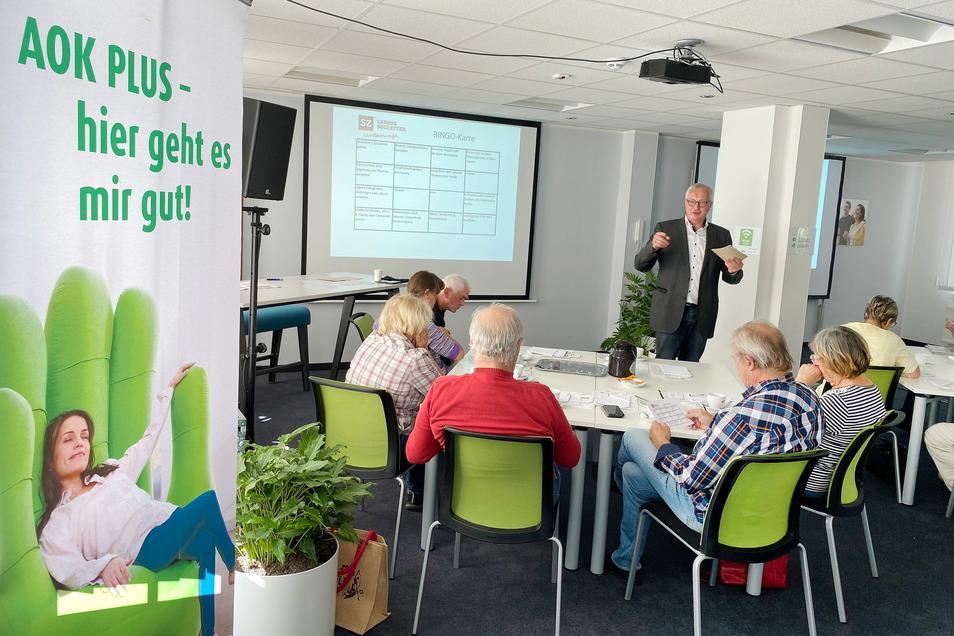 Die erste Veranstaltung des SZ-Lebensbegleiters fand in der AOK-Filiale in Zittau statt.