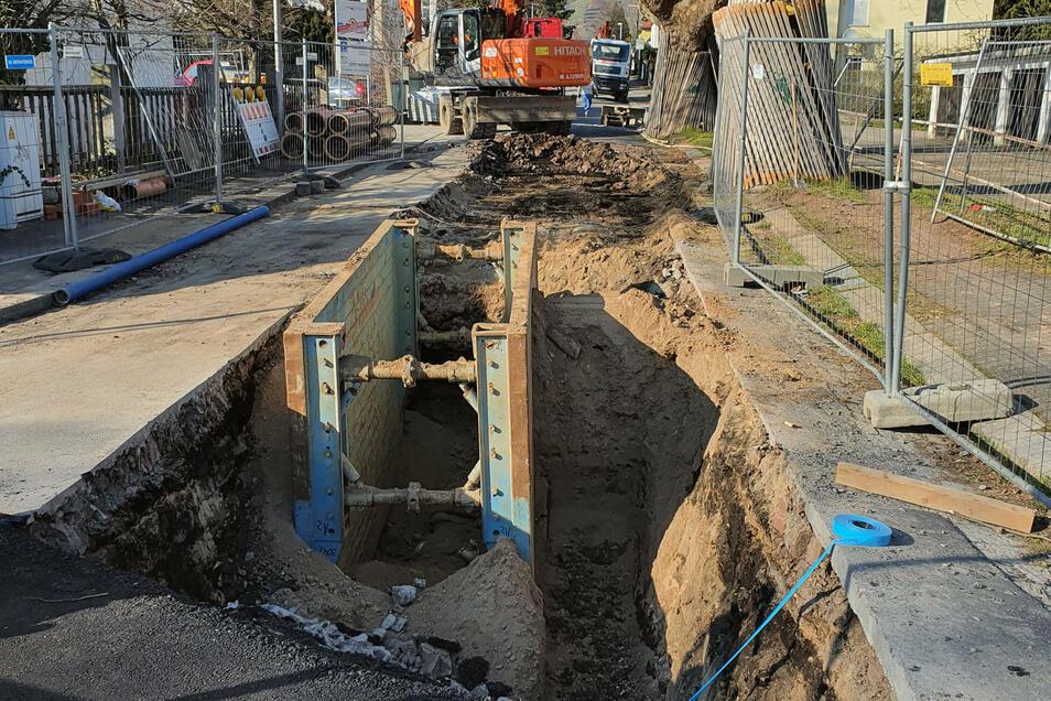So sah es noch vor einigen Wochen beim Kanalbau in der Schumannstraße aus.