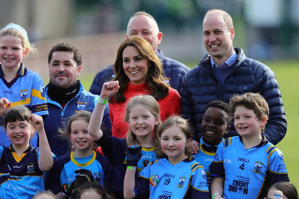 Prinz William und seine Frau Kate bei einem Irland-Besuch Anfang März.
