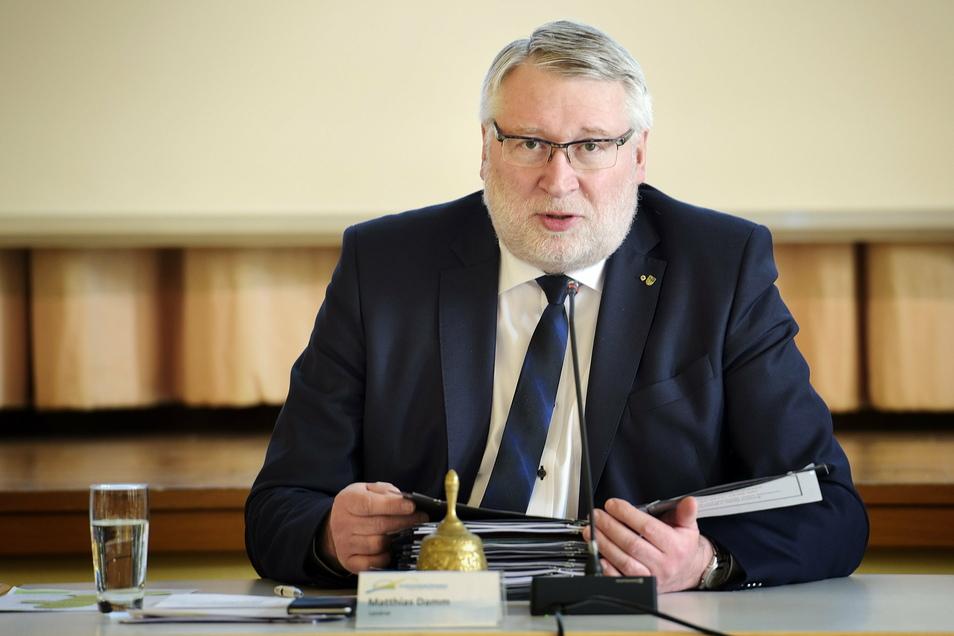 Matthias Damm (CDU) ist Landrat des Landkreises Mittelsachsen und war am Donnerstag einer von 14 Politikern, die an der Videokonferenz mit Helios teilgenommen haben.