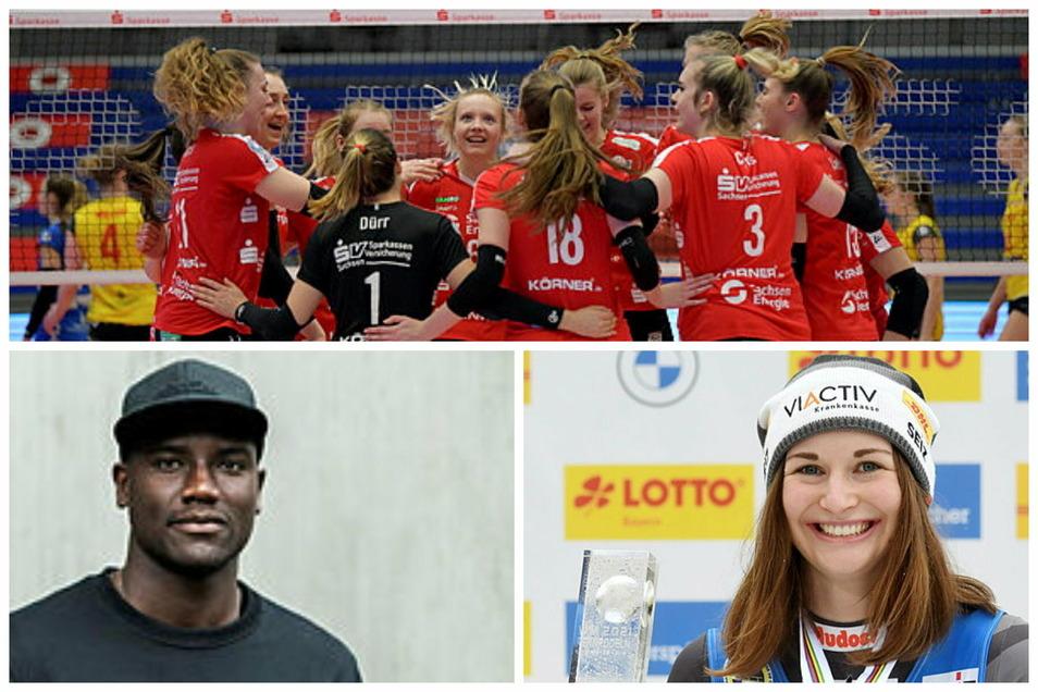 Der Sportmittwoch aus sächsischer Sicht: Die DSC-Frauen haben Grund zum Jubeln, Ex-Dynamo Peniel Mlapa übt Kritik und Julia Taubitz ist Deutschlands Sportlerin des Monats Januar.