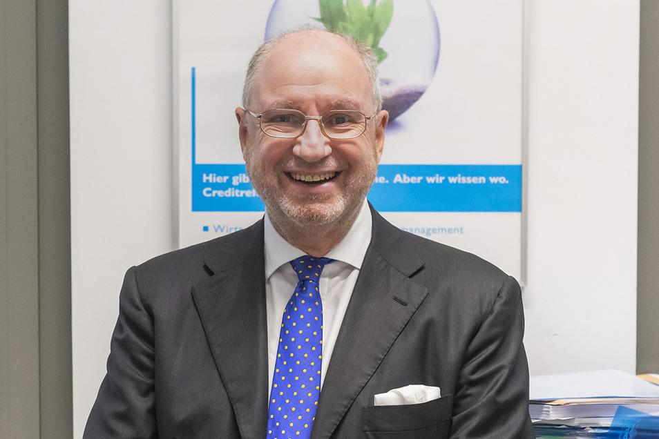 Signore mit Durchblick: Andreas Aumüller, Chef und Inhaber von Creditreform Dresden, ist seit gut zehn Jahren als Honorarkonsul für Italien unterwegs.