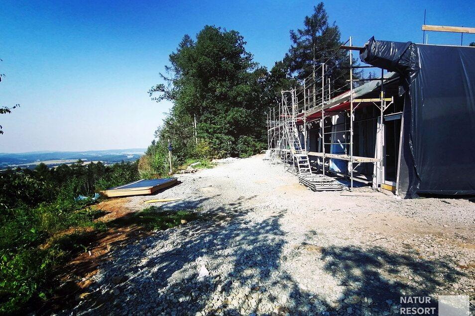 So sieht's derzeit auf der Baustelle im Naturresort Bieleboh aus.