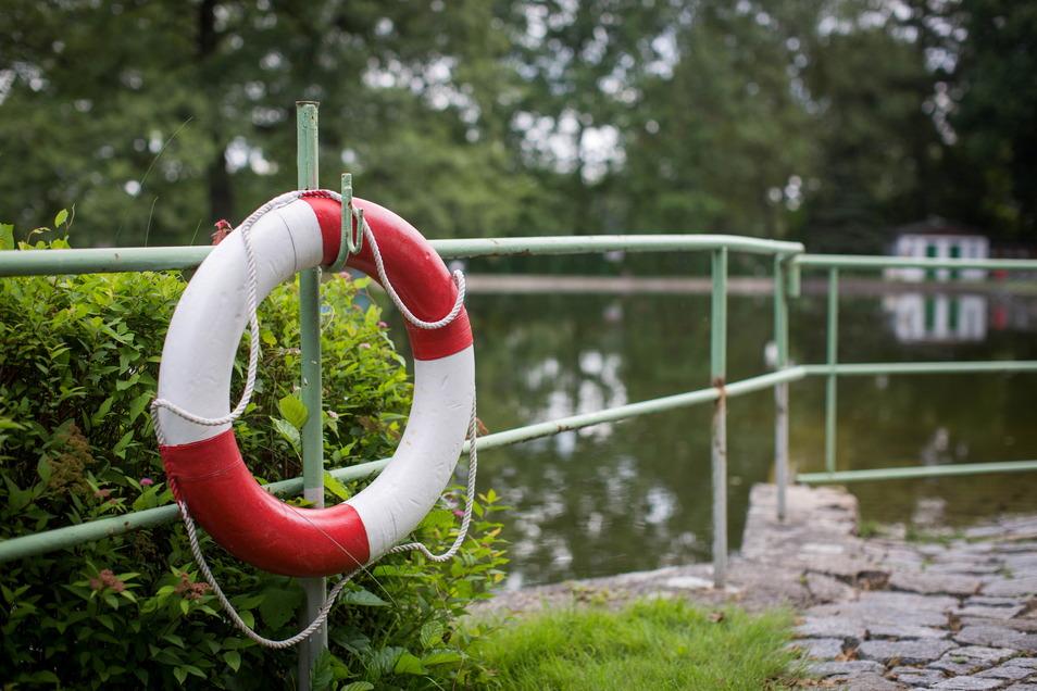 Trotz sommerlicher Temperaturen sind kaum Gäste im Marienbad Weißig.