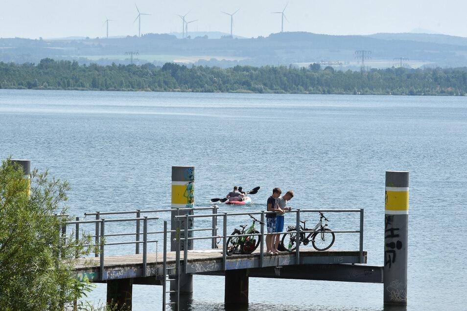 Anlegestelle am Nordufer des Berzdorfer Sees