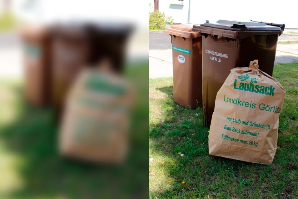 Städte und Gemeinden bieten spezielle Garten-Abfall-Säcke an. Die werden auch mitgenommen.