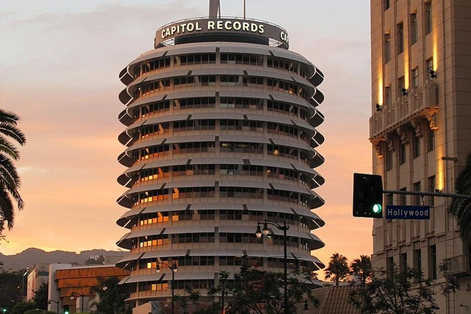 Das Gebäude von Capitol Records in Los Angeles.
