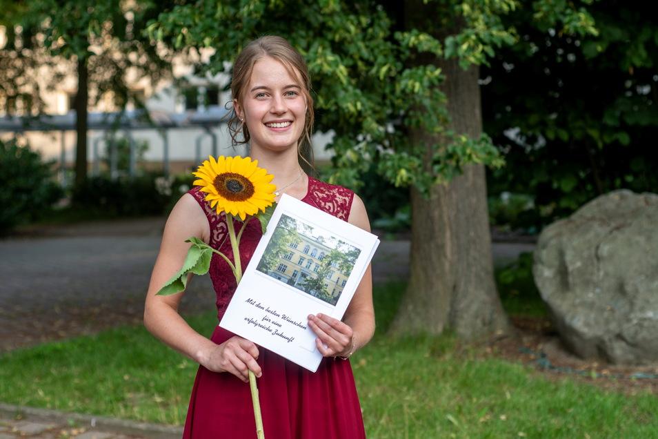 Lisa Marie Fiesel aus Haßlau hat am Lessing-Gymnasium mit dem Durchschnitt 1,0 abgeschlossen. Die 19-Jährige will ein Duales Studium bei der Deutschen Rentenversicherung Mitteldeutschland beginnen.