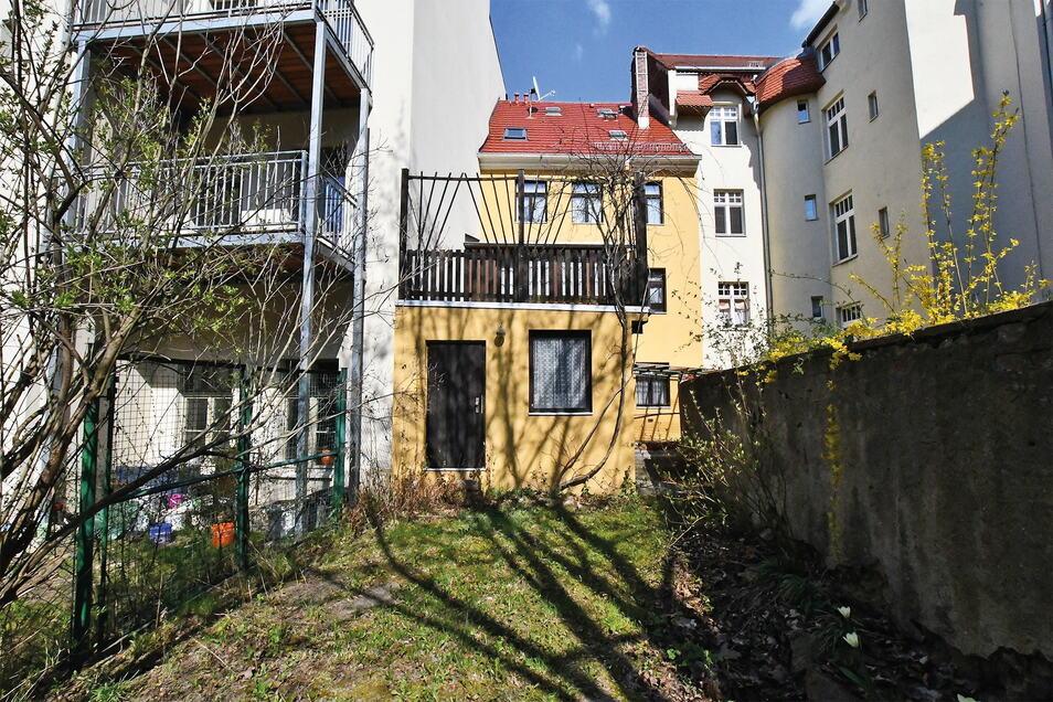Das Altstadthaus Breite Straße 10 hat auch einen kleinen Garten.