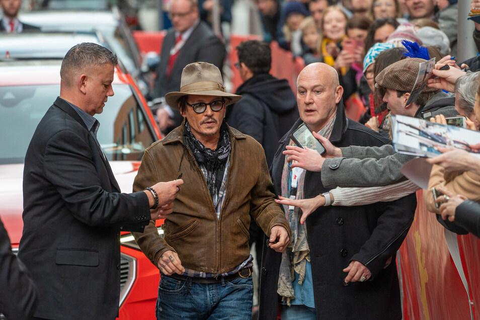 In Berlin wurde der Schauspieler herzlich begrüßt.