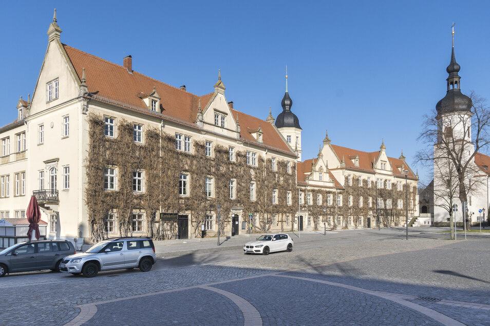Blick aufs Riesaer Rathaus.