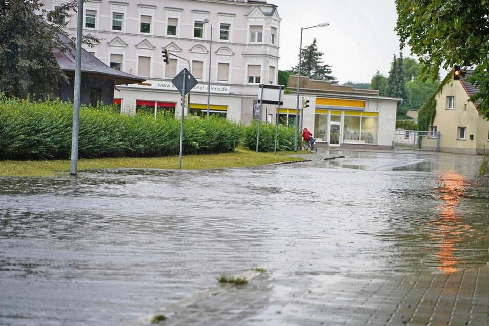 Hochwasser Weißwasser Foto: SZ-Archiv