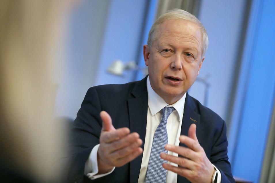 Tom Buhrow, ARD Vorsitzender, hat am Montag im sächsischen Landtag zum Thema Rundfunkbeitrag gesprochen.