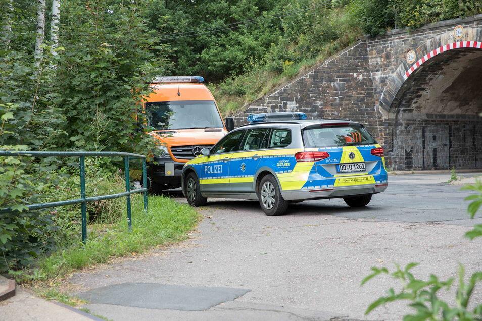 Am Dienstag Vormittag wurden zwei Granaten im Münzbach an der Silberhofstraße in Freiberg gefunden.