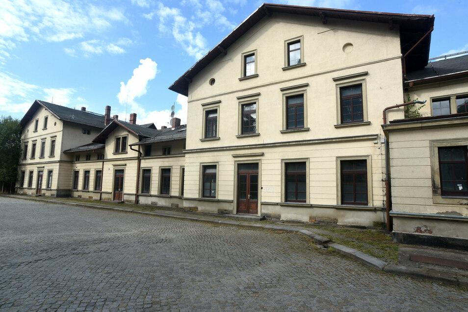 Blick auf den Tatort: Der Bahnhof Neugersdorf.