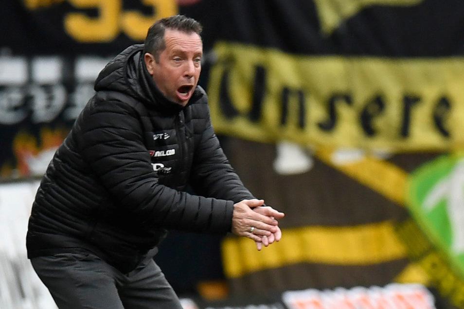 Dynamos Cheftrainer Markus Kauczinski weiß jetzt, wie es für seine Mannschaft in der zweiten Liga weitergehen soll. Ab Pfingstsonntag müssen die Dresdner im Drei-Tage-Rhythmus spielen.