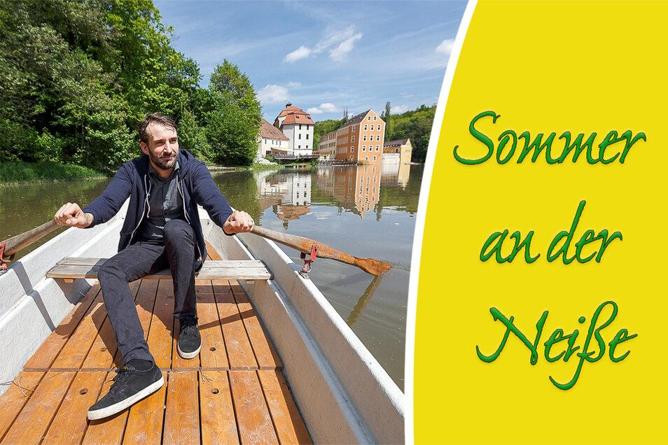 Jörg Daubner ist Inhaber der Obermühle in Görlitz. Zu den Angeboten für die Gäste gehört auch ein Bootsverleih.
