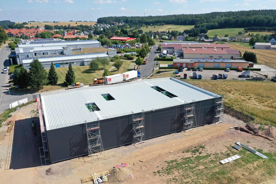 Hier entsteht der Neubau der Firma Mende im Gewerbegebiet Höckendorf. Damit ist das Gewerbegebiet ausgelastet.