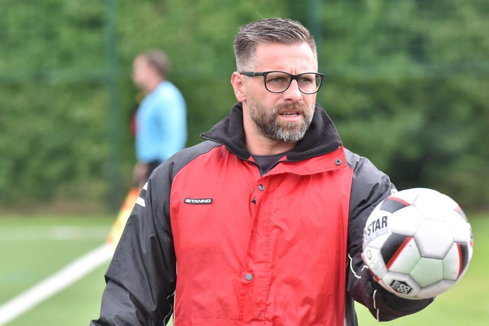Trifft mit seinem Team schon wieder in Pokalrunde zwei auf Pesterwitz: Wurgwitz-Trainer Kai Starke. In der Vorsaison unterlag seine Elf knapp mit 0:1.