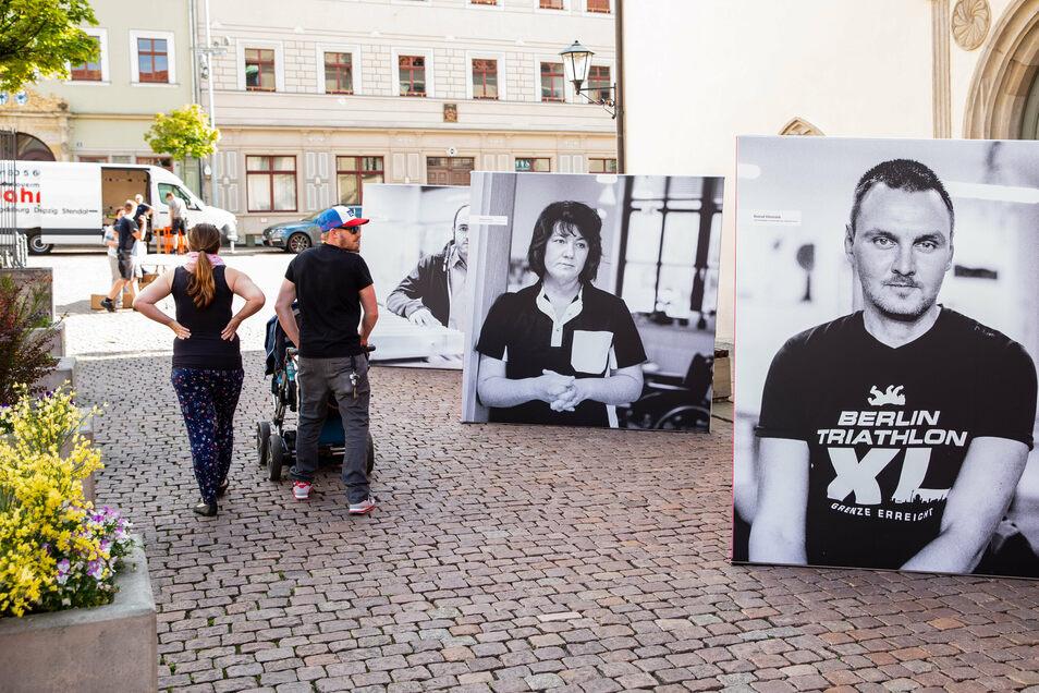 Mit einer Plakatkampagne, die auch in Pirna 2019 Station machte, machte die Lebenshilfe auf die Arbeit in Pflegeberufen aufmerksam.