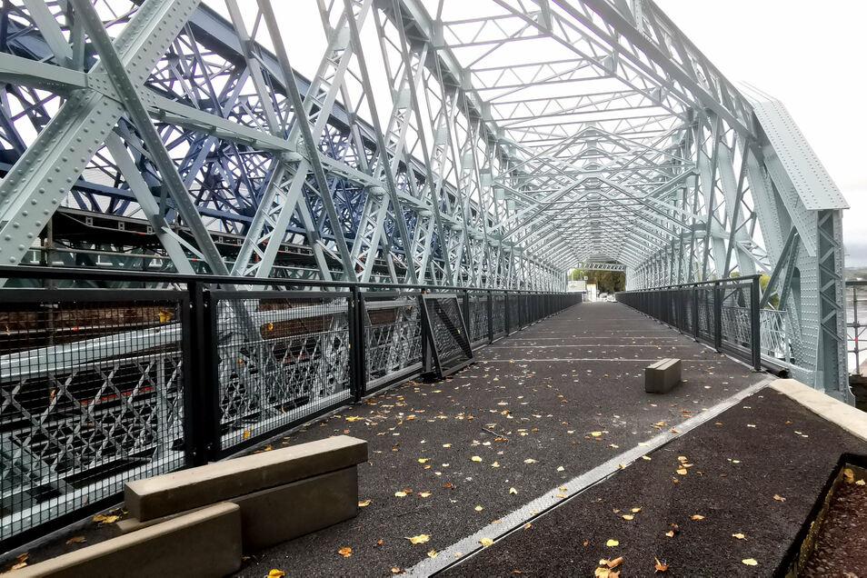 Im kommenden Monat soll der neue Rad- und Gehweg auf der Hafenbrücke freigegeben werden.