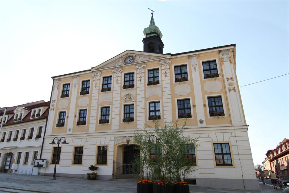 Blick auf das Rathaus in Radeberg