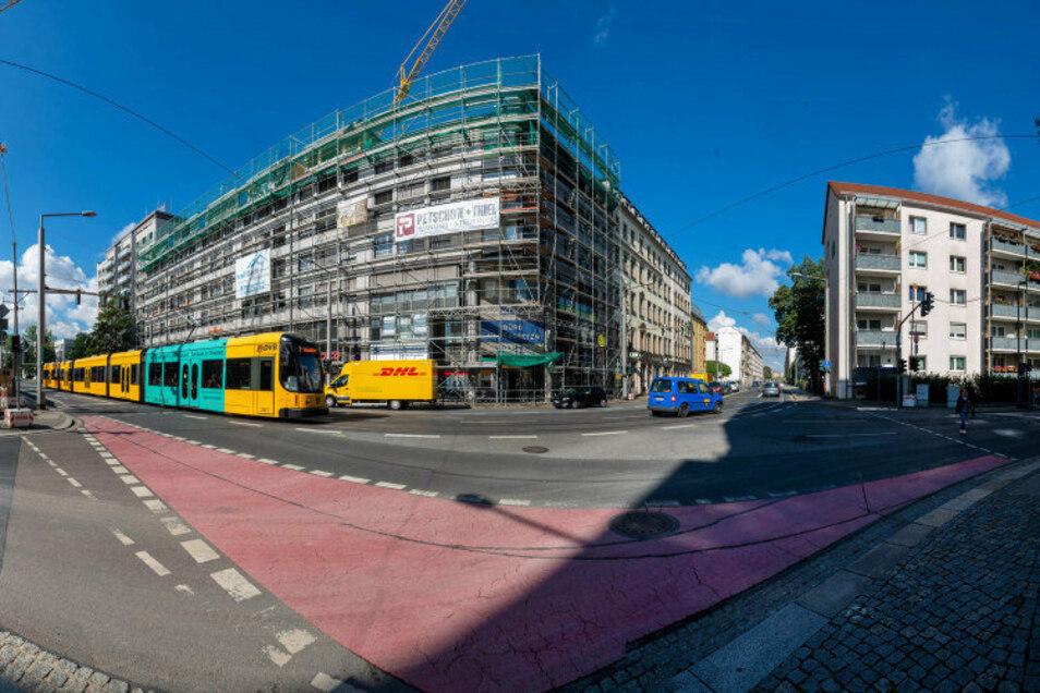 Ab Montag werden die Straßenbahngleise auf der Schweriner Straße repariert.