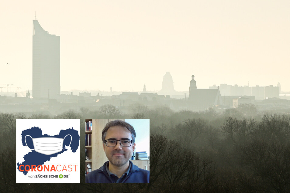 Dominik van Pinxteren untersucht beim Tropos-Institut in Leipzig die Auswirkungen der Corona-Lockdowns auf die Luftreinheit in Großstädten. Im CoronaCast berichtet er davon.