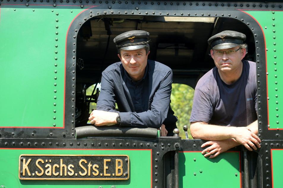 Die Traditionsbahn Radebeul schickte ihre sächsische IV K samt Personal ins Zittauer Gebirge.