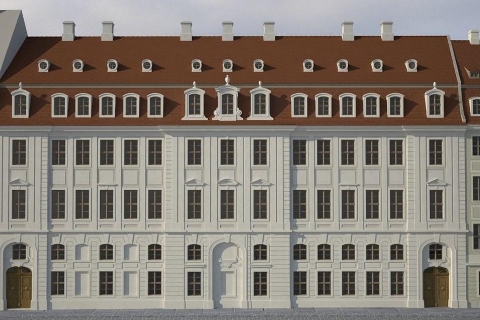 Weil eine Fassade nach historischem Vorbild nicht möglich sein soll, ...