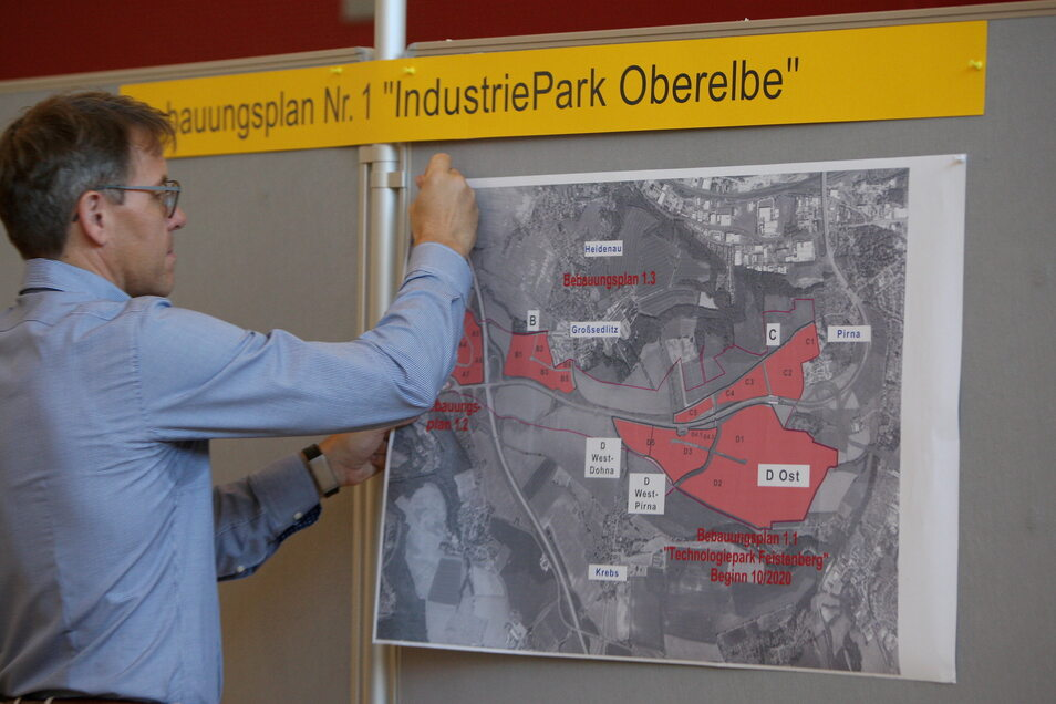 Wie geht es mit dem Industriepark weiter? Die Frage entscheidet sich am Donnerstag in Heidenau.
