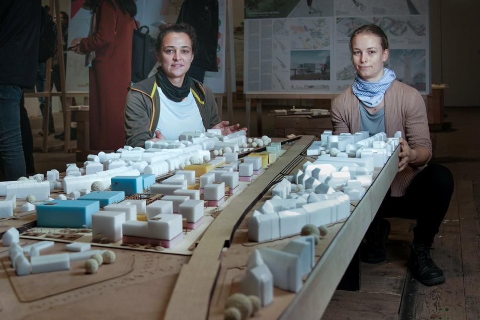 Die beiden Uni-Absolventinnen Patricia Reuß-Thümmler (41) und Laura Telschow (26) haben einen auf urbaner Produktion basierenden neuen Stadtteil mitten in Pieschen entworfen