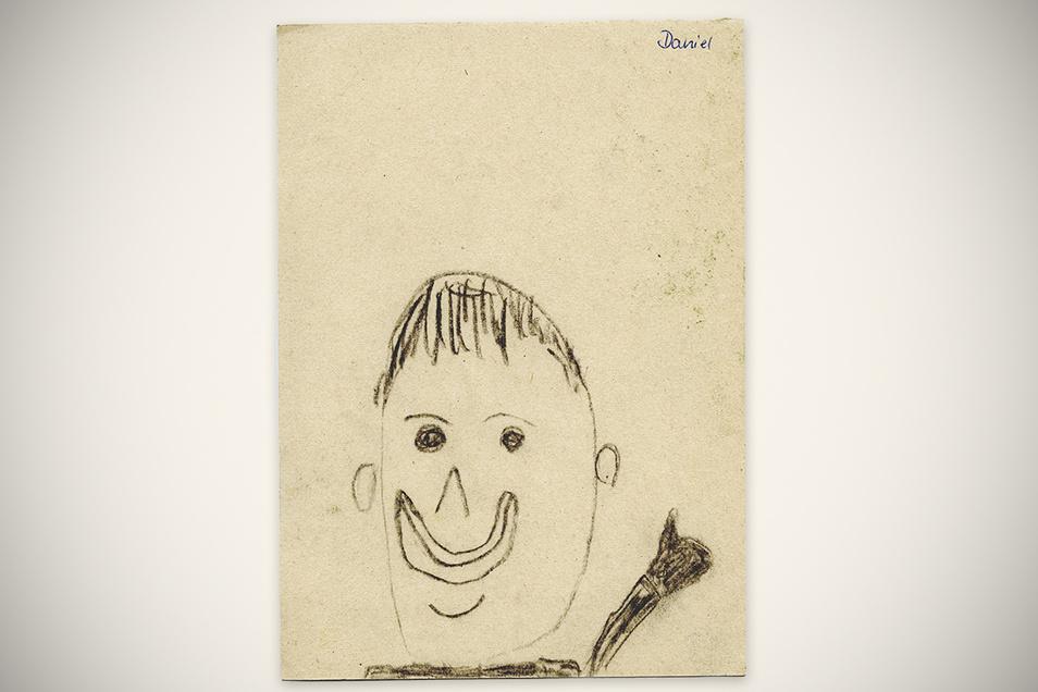 Schon im Kindergarten hat Daniel Stolle seine Vorliebe für das Zeichnen entdeckt. Sein Stil hat sich im Laufe der Zeit aber verändert - wie dieses Selbstbildnis aus längst vergangenen Zeiten beweist.