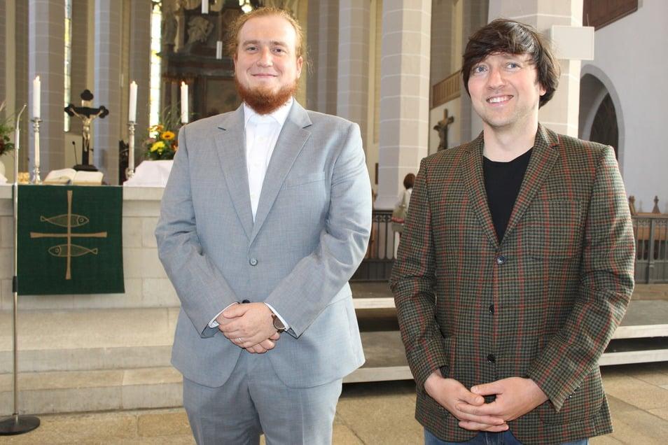 Max Grund (links) und Gerald Grajcarek sind die neuen Stipendiaten der Dr.-Gregorius-Mättig-Stiftung.
