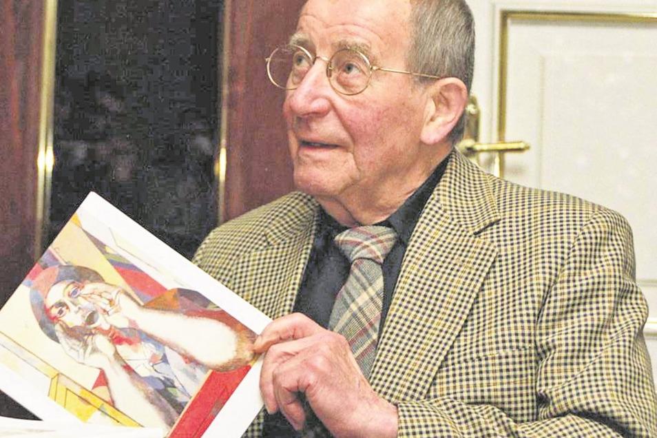 Willi Sitte übergibt Werke im Führich-Haus.