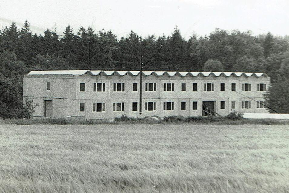 """Das einstige Ferienheim """"Heiterer Blick"""" kurz vor der Fertigstellung 1978. Der Kraftverkehr Merseburg hatte es errichten lassen."""