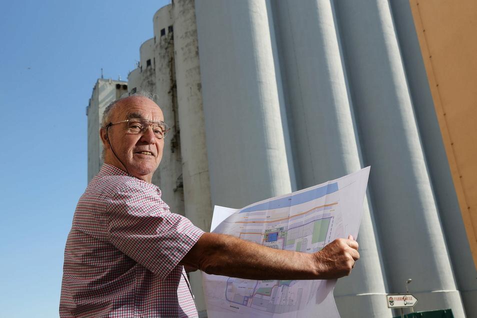 2019 stellte Michael Andris seine Pläne für das Gelände vor. Nicht alles davon wird umgesetzt werden.