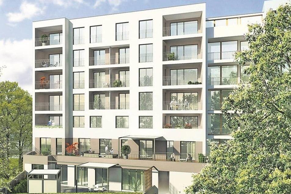 Schützenplatz 3 Die HBH Immobilien GmbH hat die Baugrube bereits vorbereitet. In dem sechsstöckigen Gebäude entstehen zwölf Wohnungen. Sie sind zwischen 109 und 250 Quadratmeter groß.