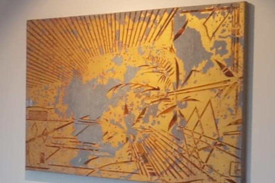 Dieses Bild des Malers Florian Fausch wurde in Ullersdorf gestohlen.