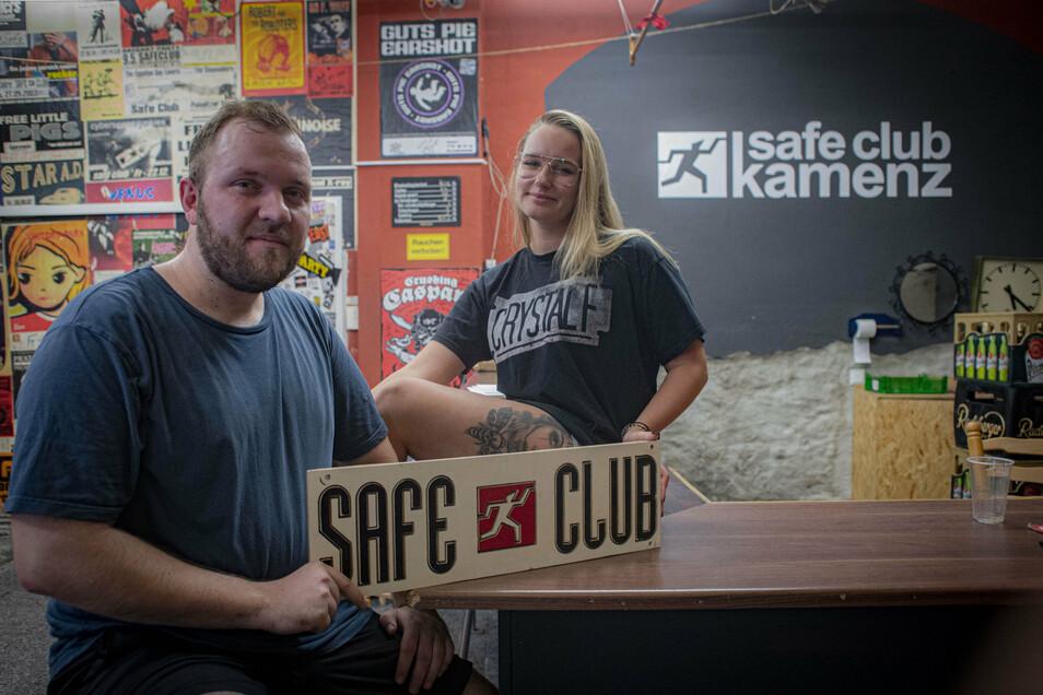 Daniel Hassert und Celine van Tankeren wünschen sich, dass nach langer Pause endlich wieder Leben in den Kamenzer Safe Club kommt.