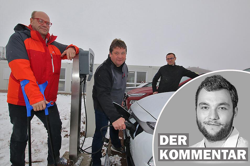 Die Firma Gemeinhardt in Roßwein will ihren kompletten Fuhrpark in die Elektromobilität bringen. Doch es hakt. Ein Kommentar von Erik-Holm Langhof