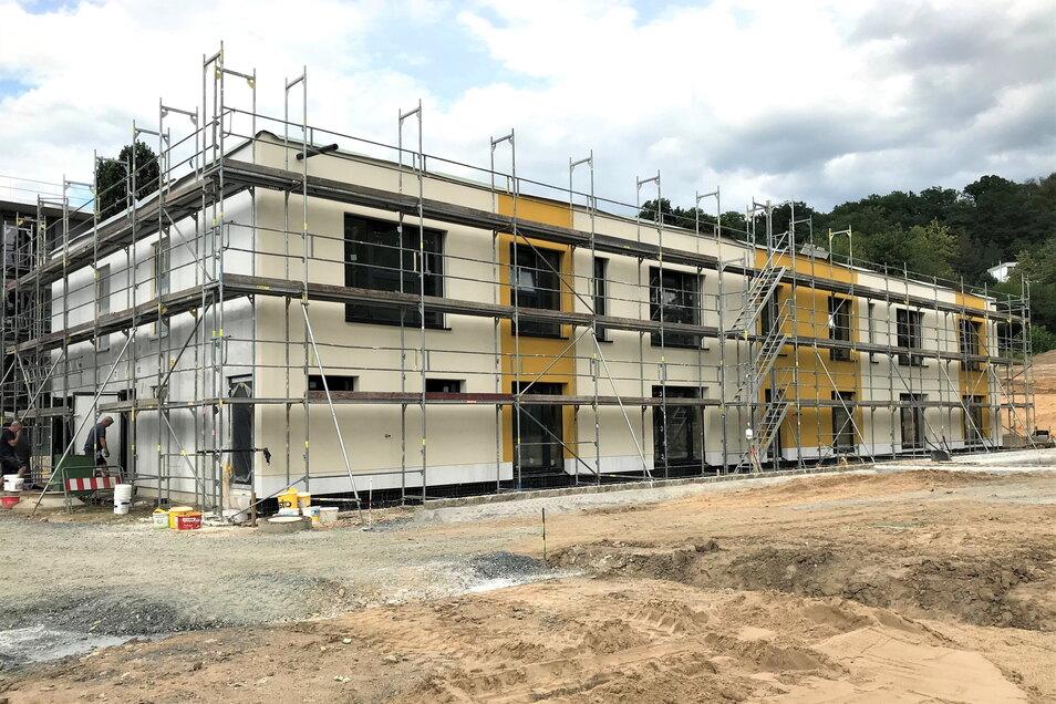 Neubau der Kita am Reitplatz im Juli 2020: Bei den Dacharbeiten gepfuscht?