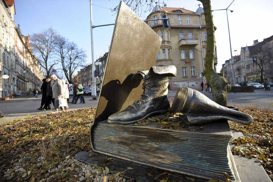 Diese Skulptur erinnerte jahrelang in Zgorzelec an Jakob Böhme.