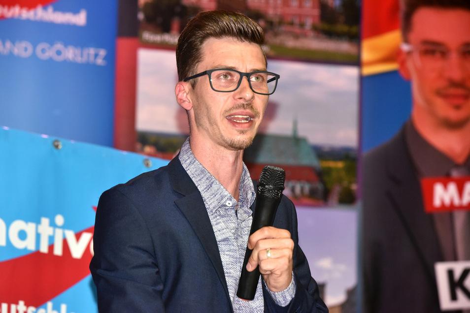Mario Kumpf ist Landtagskandidat der AfD für den Wahlkreis Löbau.