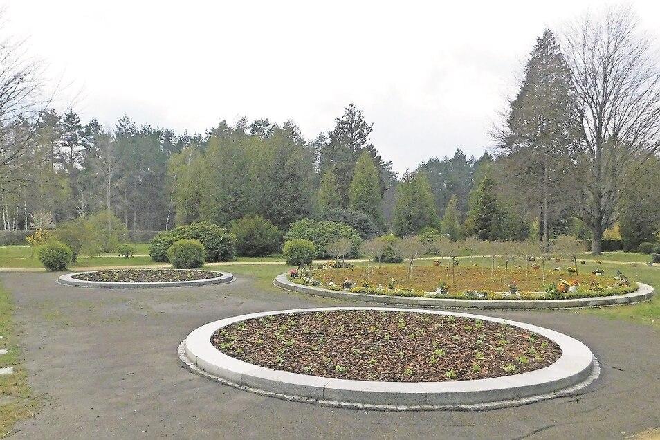 Im direkten Umfeld des großen Rondells auf dem Friedhof Weißkeißel befinden sich nun auch zwei kleinere Rondelle. Sie bieten Platz für weitere 36 Urnengräber.