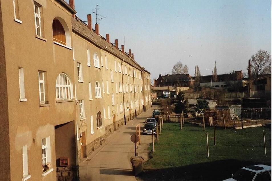Die Rückseite der Wohnblöcke. Jede Wohnung verfügte über eine Loggia, erinnert sich eine Zeitzeugin.