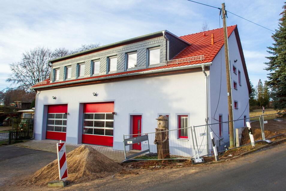 Im Juni sollen die Arbeiten am Gerätehaus der Feuerwehr Ulbersdorf abgeschlossen sein.