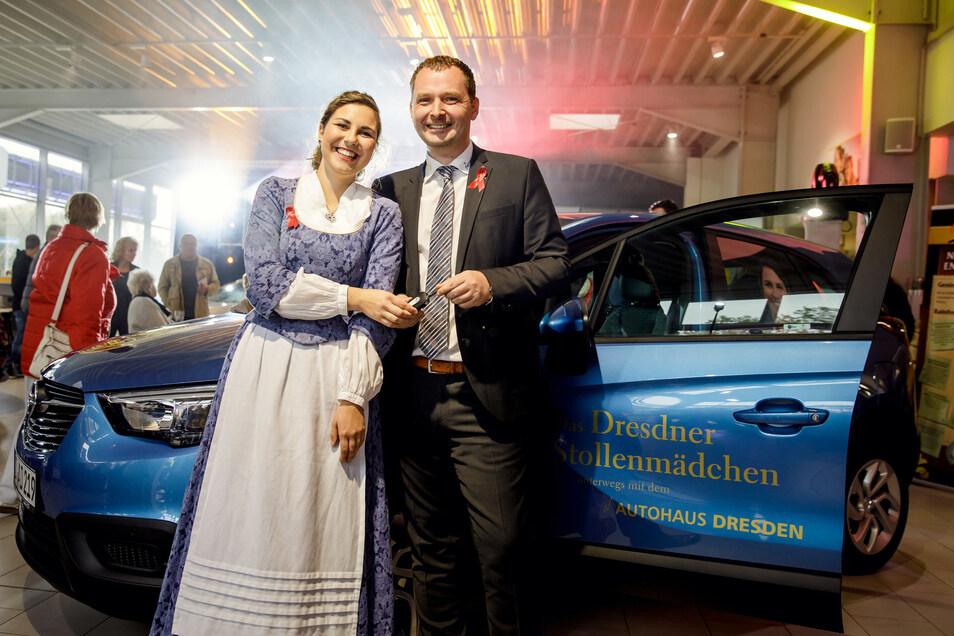Immer im Einsatz für den guten Zweck: Christian Schleicher und sein Team vom Autohaus Dresden.