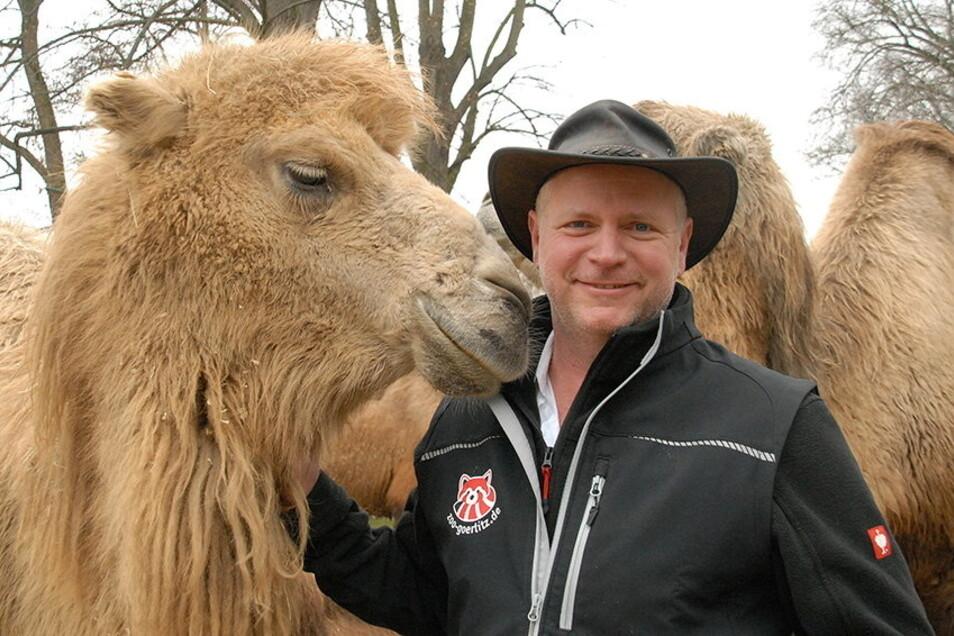 Der Görlitzer Tierpark-Chef Sven Hammer kann sich über 5 Millionen Euro aus dem Topf der Kohleausstiegsgelder freuen.